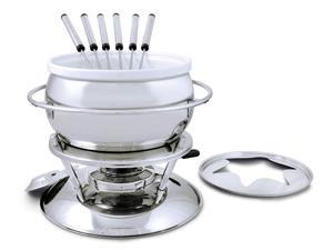 Swissmar Zuri 11 Piece Stainless Steel Fondue Set, Stainless Steel