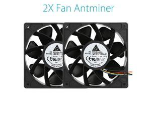 Mokingtop 2018 2PCS 6000RPM Cooling Fan Replacement 4-pin Connector For Antminer Bitmain S7 S9 Computer Fan Dropshipping