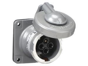 Hubbell Killark Pin & Sleeve Receptacl,30A,4P,3W,NEMA 4X  VR342
