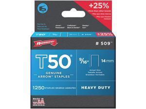 """Arrow Fastener 1250Pk 9/16"""" T50 Staple 50924 Unit: EACH Contains 4 per case"""