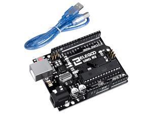 ELEGOO UNO R3 Board ATmega328P ATMEGA16U2 with USB Cable Compatible with Arduino IDE Projects, RoHS Compliant