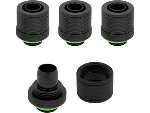 """Corsair Hydro X Series Xf Compression 10/13mm (3/8""""/ 1/2"""") ID/OD Fittings Four Pack, Black, Model Number: CX-9051002-WW"""