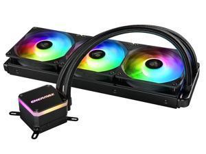 Enermax Liqmax III Addressable RGB 360 All-in-One CPU Liquid Cooler Dual Chamber Intel/AMD AM4 Support AIO ARGB LED Cooling 300W+ TDP; ELC-LMT360-ARGB