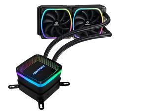 Enermax Aquafusion 240 Intel/AMD AIO Liquid CPU Cooler Addressable RGB ARGB; ELC-AQF240-SQA