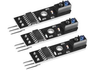 Infrared Tracking Sensor Module 1-Channel Infrared Reflection Tracking Sensor Module Obstacle Avoidance Smart Car Black/White Line Detection 3 Pcs