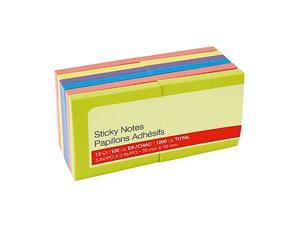 """MyOfficeInnovations Stickies Notes 3"""" x 3"""" Bright Colors 12 Pads/Pack (S-33BR12)"""