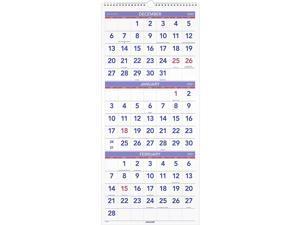 AT-A-GLANCE 2021 27 x 12.25 Wall Calendar, White PM112821