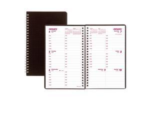 Brownline DuraFlex Weekly Planner, 8 x 5, Black, 2021 CB75VBLK