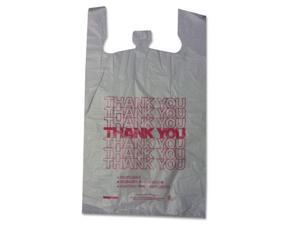 "Thank You High-Density Shopping Bags, 18"" x 30"", White, 500/Carton 18830THYOU"