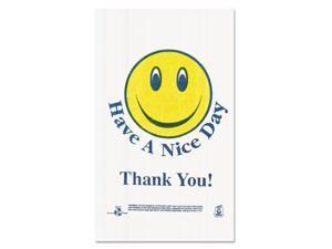 Barnes Paper Company Bag,Plas,Smiley Face,Wh T1/6SMILEY