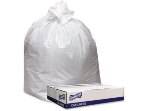 Genuine Joe GJO4046W Trash Can Liners - White, 100 Count