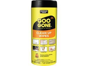 Goo Gone Clean Up Wipes 8 x 7 Citrus Scent White 24/Canister 4 Canister/Carton