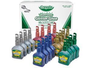 Crayola 20 ct. Bold Blazes 4 oz. Glitter Glue Classpack 69-0020