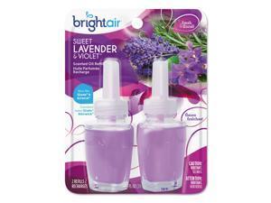 BRIGHT Air Electric Scented Oil Refill Sweet Lavender/Violet 0.67oz Jar 2/Pk 6Pk