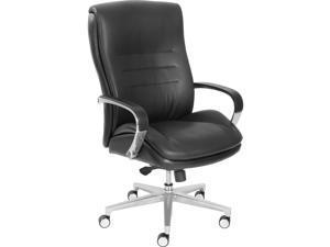 "La-Z-Boy ComfortCore Gel Seat Executive Chair - Faux Leather Black Seat - Faux Leather Black Back - 28.5"" Width x 25.3"""