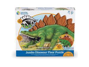 "Learning Resources Floor Puzzle Stegosaurus 13""Wx16-1/10""Lx3-3/10""H Multi"