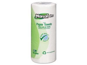 "Marcal Perforated Kitchen Towels White 2-Ply 9""x11"" 85 Sheets/Roll 30 Rolls"
