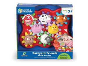 """Learning Resources Build and Spin Farm Friends 10-9/10""""x11-9/10""""x5-3/10"""" MI"""