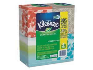 Kleenex Lotion Facial Tissue, 2-Ply, White, 65 Sheets/Box, 8 Boxes/Carton