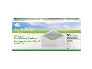 Staples Sustainable Earth #10 100% Recycled Business Envelopes 125/BX (74101)
