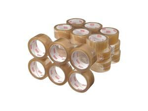 """Staples Natural Rubber Packaging Tape 1.89"""" x 109.4 Yds Clear 36/Rolls 11644-CC"""