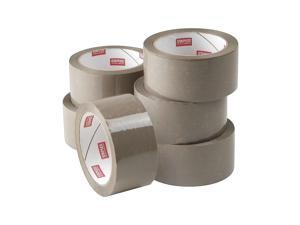 """Staples Natural Rubber Packaging Tape 1.89"""" x 54.7 Yds Tan 6/Rolls 11649-CC"""