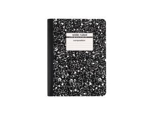 """Staples Notebook 9.75"""" x 7.5"""" Wide Ruled 100 Sh. Black 48/CT 14557CT"""