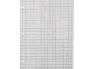 """Sustainable Earth Filler Paper 8 1/2"""" x 11"""" Graph Ruled 100 Sheets TR25139M"""