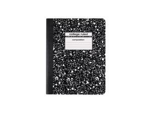 """Staples Composition Notebook 9.75"""" x 7.5"""" College Ruled 100 Sh. Black 48/CT"""