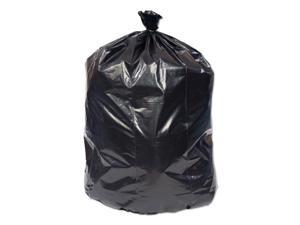 "Pitt Plastics Eco-Strong Can Liner, 16 gal, 0.9 mil, 32"" x 24"", Black, 500"