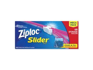 "Ziploc Slider Storage Bags, 1 gal, 9.5"" x 10.56"", Clear, 9/Carton 651305"