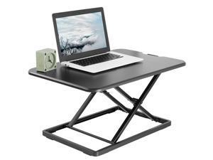 "VIVO Black Ultra Slim 26"" Height Adjustable Standing Desk Converter, Sit Stand Tabletop Monitor Riser (DESK-V001J)"