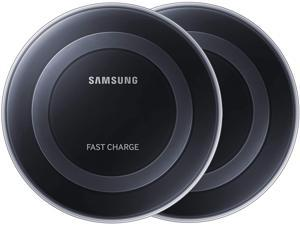 Samsung Qi Certified Fast Charge Wireless Charger Pad - Black (2 Pack)