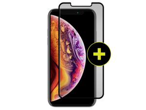 Gadget Guard - Black Ice Plus Cornice Curved Glass Screen Protector for Apple iPhone Xs Max - Clear