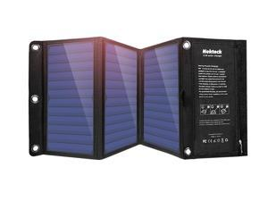 Nekteck 21W Solar Charger with 2-Port USB Charger Build with High efficiency Solar Panel Cell for iPhone 6s / 6 / Plus, SE, iPad, Galaxy S6/S7/ Edge/ Plus, Nexus 5X/6P, any USB devices, and more