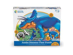 """Learning Resources Floor Puzzle Triceratops 13-1/10""""Wx16""""Lx3-1/5""""H Multi LER2857"""