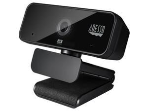 Adesso Camera, 4K HD Webcam, Black CyberTrack H6