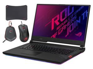 "ASUS ROG Strix G17 G712LU Gaming and Entertainment Laptop (Intel i7-10750H 6-Core, 8GB RAM, 512GB SSD, 17.3"" Full HD (1920x1080), Win 10 Home) with Harrier GT300 , Carry Case , GM50 Pad"