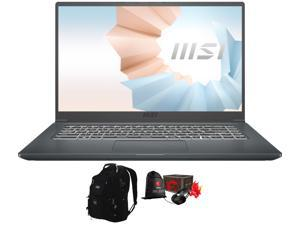 "MSI Modern 15 A11M Home and Business Laptop (Intel i7-1165G7 4-Core, 16GB RAM, 512GB SSD, 15.6"" Full HD (1920x1080), Intel Iris Xe, Wifi, Bluetooth, Webcam, Win 10 Home) with ME2 Backpack , Loot Box"