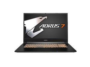 "Gigabyte AORUS 7 Gaming and Entertainment Laptop (Intel i7-9750H 6-Core, 8GB RAM, 256GB PCIe SSD, 17.3"" Full HD (1920x1080), NVIDIA GTX 1650, Wifi, Bluetooth, Webcam, 3xUSB 3.1, 1xHDMI, Win 10 Home)"