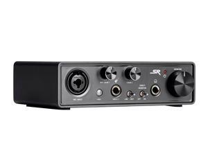 Monoprice STi12 2x2 USB Audio Recording Interface, +48V Phantom Power, 24 Bit, Plug and Play, Compatible With All Popular DAWs - Stage Right Series