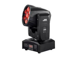 Monoprice Stage Wash Moving Head (RGBW)   With Zoom,  12 Watt, x 7 LED, Includes built-in auto and sound active programs - Stage Right Series
