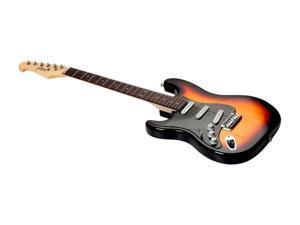 Monoprice Indio Cali Classic Lefty Electric Guitar - Sunburst, With Gig Bag