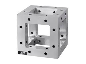 Monoprice 8in x 8in Lite Duty Box Truss   6-Way Corner With Hardware, Up to 500 pounds load capacity - Stage Right Series