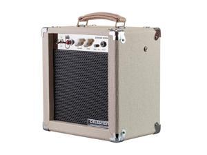 Monoprice 5-Watt 1x8 Guitar Combo Tube Amplifier - Tan/Beige with Celestion Super 8 Inch Speaker, 12AX7 Preamp, Versatile and Durable For All Electric Guitars