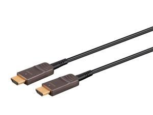 Monoprice Ultra High Speed HDMI Cable - 20 Feet - Black, 8K@120Hz, Dynamic HDR, 48Gbps, Fiber Optic, eARC, AOC, YCbCr 4:4:4 - SlimRun AV Series