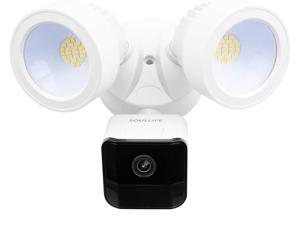 SoulLife Security Floodlight Camera, 1080P HD Outdoor Surveillance Camera Motion-Activated Security Cam Two-Way Audio and Siren Alarm, 2200-Lumen Brightness, IP65 Waterproof