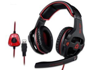 KLIM Mantis - Gaming Headphones - USB Headset with Microphone - for PC PS4 Nintendo Switch Mac 7.1 Surround Sound - [ New 2021 Version ] - Noise Cancelling Gaming Headset