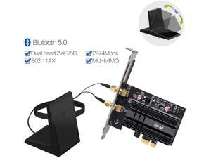 Dual Band 2974Mbps WiFi 6 PCI-E 1X Wireless Adapter 2.4G/5Ghz 802.11Ac/Ax Bluetooth 5.0 for AX200 Network Card Apply to Winow,Magnetic Antenna