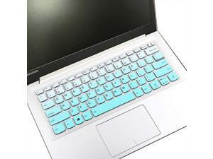 "MUBUY Design for Lenovo Ideapad 14 Keyboard Cover (NO Numric Keypad) for 14"" Lenovo IdeaPad 14 130 130S 330 330S S340 530S 730S S145 IdeaPad 1 Keyboard Protective Cover, 13.3"" IdeaPad 730S -Mint Green"